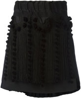 No.21 fringed asymmetric skirt