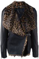Barbara Bui leopard faux fur jacket