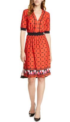 Ted Baker Valent Geo Print Zip Front Dress