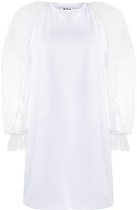 MSGM Ruffle Sleeve Jersey Dress