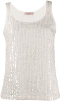 Twin-Set Twin Set sequinned tank top