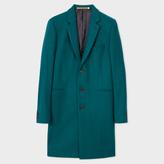 Paul Smith Men's Teal Wool-Cashmere Overcoat