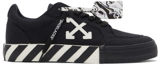 Off-White Black Vulcanized Low Sneakers