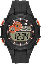 Skechers Men's Quartz Plastic Casual Watch, Color:Black