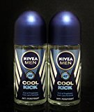 Nivea Deodorant Roll-on, 1.7 Fluid Ounce (COOL KICK, PACK OF 2)