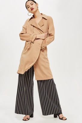 Topshop Womens Double Breasted Trench Coat - Natural