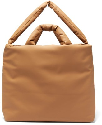 Kassl Editions Rubber Large Padded Canvas Tote Bag - Tan