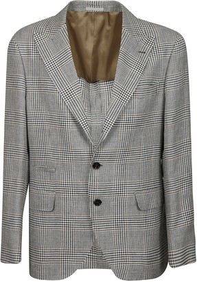 Brunello Cucinelli Tartan Single-breasted Blazer