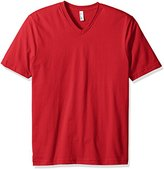 American Apparel Men's Organic Fine Jersey Short Sleeve Classic V-Neck T-Shirt