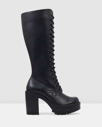 ROC Boots Australia - Women's Black Lace-up Boots - Lash Vegan - Size One Size, 37 at The Iconic