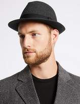 Marks and Spencer Twill Trilby Hat