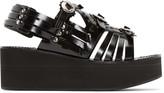 Toga Pulla Black Multistrap Platform Sandals