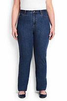 Classic Women's Plus Size High Rise Straight Leg Jeans-Medium Wash