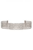 Quiz Silver Diamante Multi Chain Bracelet