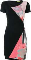 Versace contrast printed fitted dress - women - Polyester/Spandex/Elastane/Viscose/Polyimide - 42