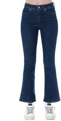 Dondup Blue Cotton Bell Bottom Jeans