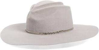 Gladys Tamez Mason Fur Felt Wide Brim Hat