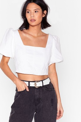 Nasty Gal Womens Waist No Time Faux Leather Croc Belt - White