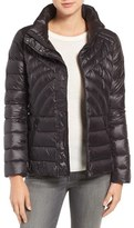 Petite Women's Halogen Stand Collar Droptail Puffer Jacket