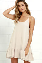 LuLu*s Twirl Time Beige Shift Dress