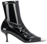 No.21 metallic toe ankle boots
