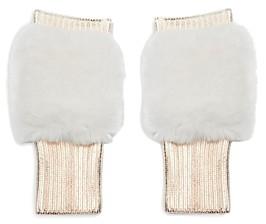 Jocelyn Metallic Faux Fur Mittens