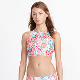 Ralph Lauren Paisley Lace-Up Bikini Top
