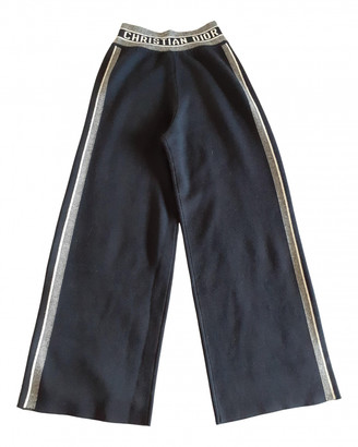 Christian Dior Navy Cashmere Trousers