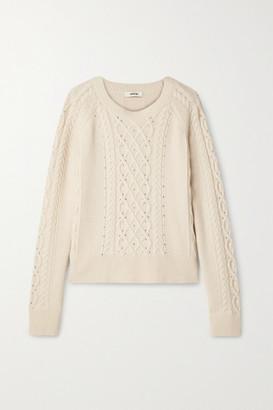Jason Wu Embellished Cable-knit Sweater