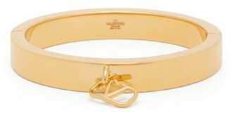 Valentino V-logo Cuff Bracelet - Gold