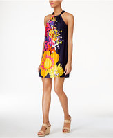Trina Turk Roe Floral-Print Halter Dress