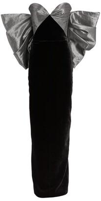 Rasario Metallic Bow-Detail Gown