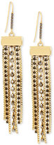 Kenneth Cole New York Gold-Tone Faceted Stone Fringe Drop Earrings