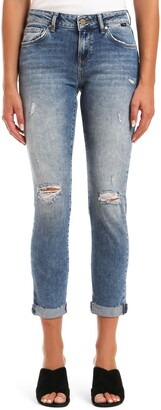 Mavi Jeans Ada Ripped Ankle Skinny Jeans