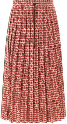 Gucci Geometric Jacquard Pleated Skirt