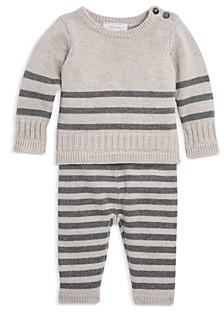 Miniclasix Girls' Striped Sweater Set - Baby