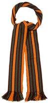 Tod's Striped Fine Knit Scarf