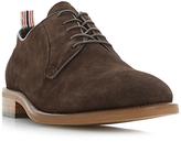 Bertie Pugg Round-Toe Suede Derby Shoes