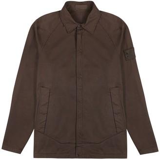 Stone Island Brown Cotton-blend Overshirt