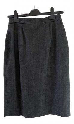 Jaeger Grey Wool Skirt for Women
