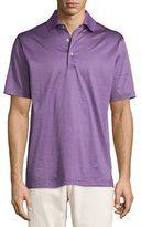 Peter Millar Striped Cotton Lisle Polo Shirt, Purple