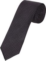 Oxford Silk Tie Chevron Grey X
