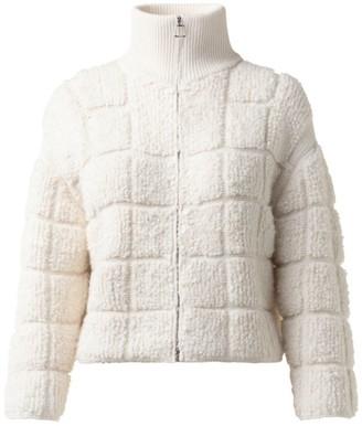 Akris Cashmere & Silk Boucle Boxy Jacket