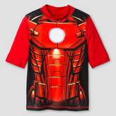 Iron Man Boys' Rashguard - Red