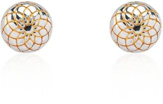 Tane Spiral Cactus Earrings Handmade In Sterling Silver & Vermeil