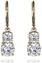 Anne Klein Leverback Double Stone Drop Earrings