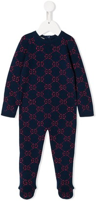 Gucci Kids knitted GG logo pajamas