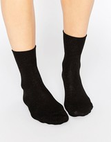 Falke Black Shiny Ankle Sock