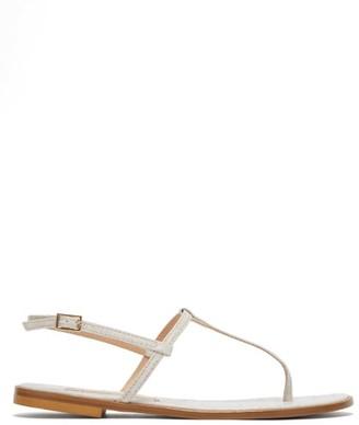 Avec Modération Avec Moderation - St. Lucia Crocodile-effect Leather Sandals - Womens - White