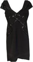 Herve Leger Anthracite Cotton - elasthane Dress for Women